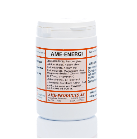 AME-ENERGI elektrolyter, energikick före tävling eller efter tävling