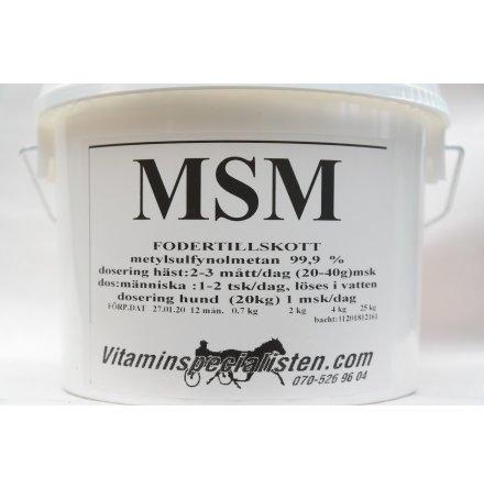 MSM Häst Bra för styva stela muskler, blodcirkulationen, prestationshöjande 99,9 % msm